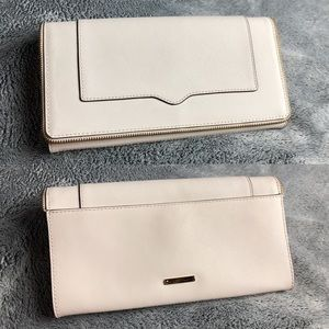 Rebecca Minkoff Amorous Leather Zipper Trim Clutch